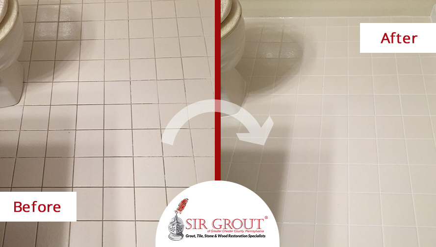 A Thorough Grout Cleaning Service Revitalized This Homeowner's Floors in Glen Mills, PA