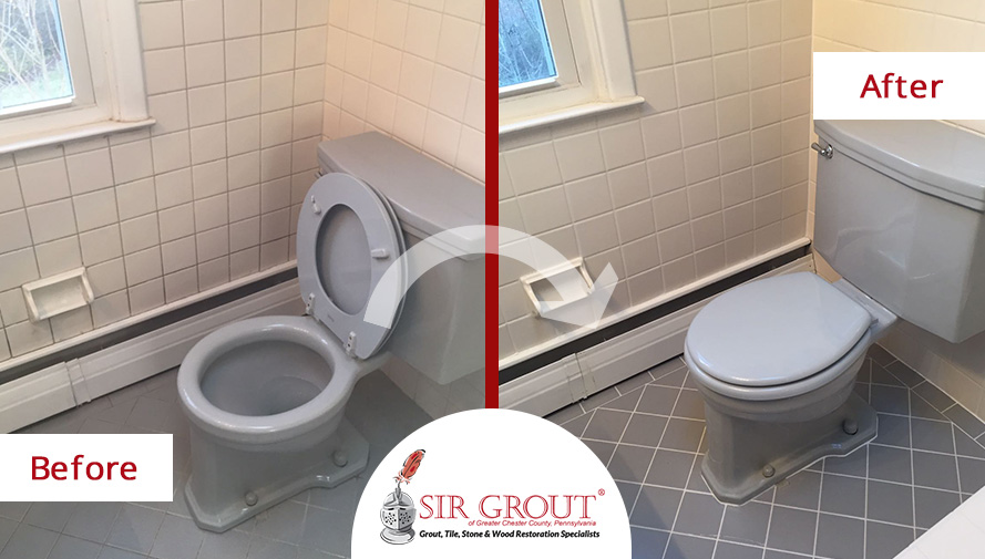 A Grout Cleaning Service Repaired The Floor And Walls Of This - Bathroom grout cleaning services