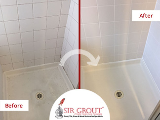 Before and After Picture of a Tile and Grout Cleaners in Kennett Square, PA