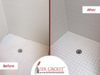 Professional Grout Sealing Restored This Old and Dirty Shower in Chester Springs, PA