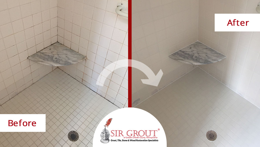 Merveilleux Before And After Picture Of A Tile And Grout Cleaners In Phoenixville, PA