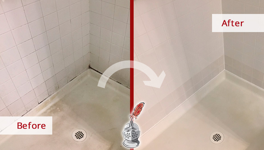 Before and After Picture of a Bathroom Tile and Cleqaning in Downingtown, Pennsylvania