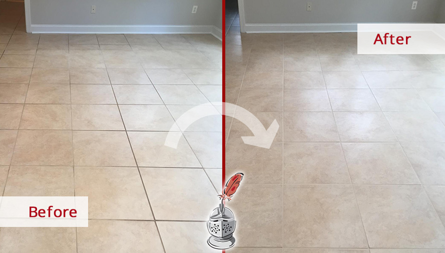 Before and after Picture of How These Hard Surfaces Look Brand-New after a Grout Cleaning Job in Newtown Squere, PA