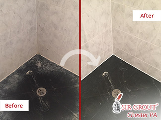 Before and after Picture of This Bathroom in Glen Mills, PA
