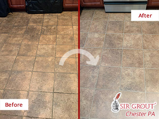 Before and After Picture of This Floor in Conshohocken, PA