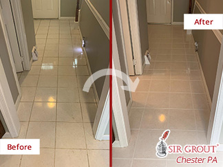 Before and After Picture of This Floor in Downingtown, Pennsylvania
