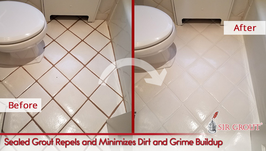 Sealed Grout Repels and Minimizes Dirt and Grime Buildup